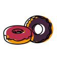 delicious donuts dessert vector image vector image