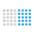 different circle icons set vector image