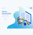 e-learning online education at home isometric vector image vector image