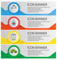 ecology banner templates set vector image