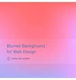 Elegant pink blurred background for web design vector image