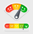 emotions scale for clients feedback vector image
