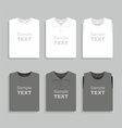 Folded t-shirts set vector image