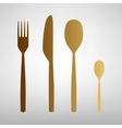 Fork spoon and knife sign vector image vector image