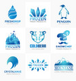frozen products logo collection vector image vector image