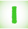 Grass letter I