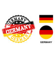 grunge textured germany stamp seal with german vector image vector image