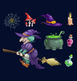halloween holiday party witch design vector image vector image