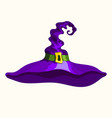 halloween purple witch hat isolated vector image vector image