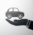 holding a car vector image
