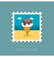 Ice Cream flat stamp vector image vector image