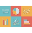 Icons in flat style Graph types - Set of