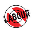 labour rubber stamp vector image