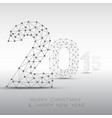 low poly happy new year 2015 card vector image