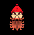 lumberjack head in engraving style design element vector image