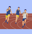 marathon sports jogging sports competitions men vector image