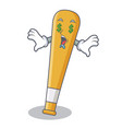 money eye baseball bat character cartoon vector image