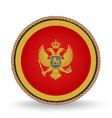 Montenegro Seal vector image vector image