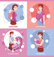 motherhood sleeping babies concept vector image
