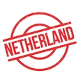 Netherland rubber stamp vector image vector image