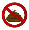 No poop sign vector image