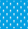 office chair pattern seamless blue vector image vector image