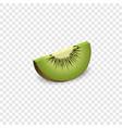 piece of kiwi mockup realistic style vector image vector image