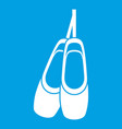pointe shoes icon white vector image vector image