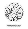 propionibacterium icon probiotic concept logo vector image vector image