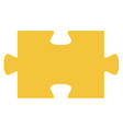 puzzle piece isolated icon vector image vector image