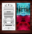 save the date poster with extra borders vector image