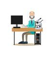science people concept in flat vector image vector image