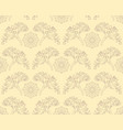 seamless pattern with seashells and algae vector image vector image