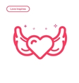 search love concept in flat vector image vector image