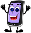 smart phone cartoon vector image vector image