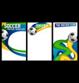 soccer football posters with realistic 3d ball vector image
