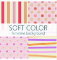 soft color feminine abstract background pattern vector image vector image