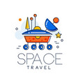 space travel logo mars space mission badge vector image