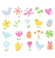 Spring Holiday Objects vector image vector image
