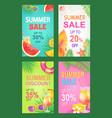 summer sale posters set offer vector image vector image