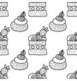 sweet dessert black and white vector image