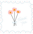 thank you note hand drawn vector image