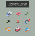 transportation isometric icon vector image