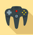 video game joystick icon flat style vector image vector image