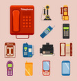 vintage phones retro lod telephone call vector image vector image