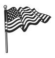 vintage waving flag usa template vector image