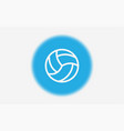 volleyball icon sign symbol vector image vector image