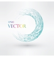 Wireframe logo polygonal element Torus with vector image