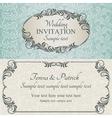 Baroque wedding invitation brown vector image