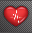 Heart Beat Rate Pulse Realistic 3d Healthcare vector image